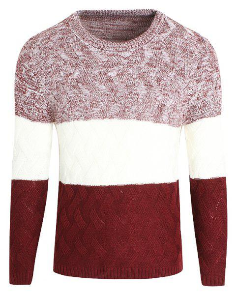 Young Men'S Casual Lounge Sweaters - RED M