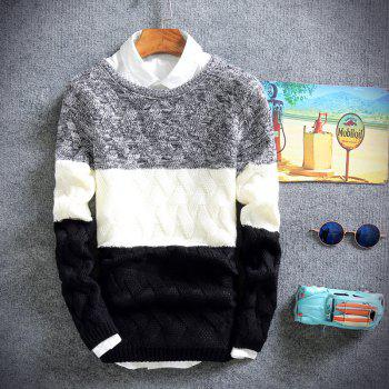 Young Men'S Casual Lounge Sweaters - BLACK 2XL