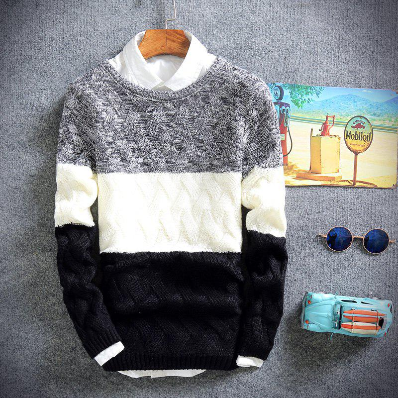 Young Men'S Casual Lounge Sweaters - BLACK L