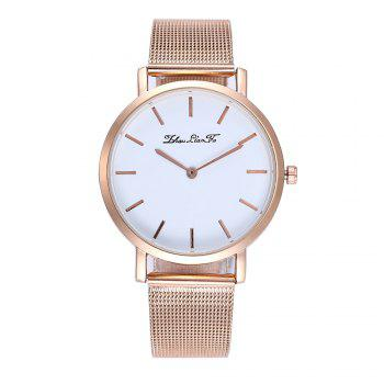 Stylish New Personality Fashion Quartz Watch Men and Women Nets Simple Style Neutral Watch with Gift Box - ROSE GOLD ROSE GOLD