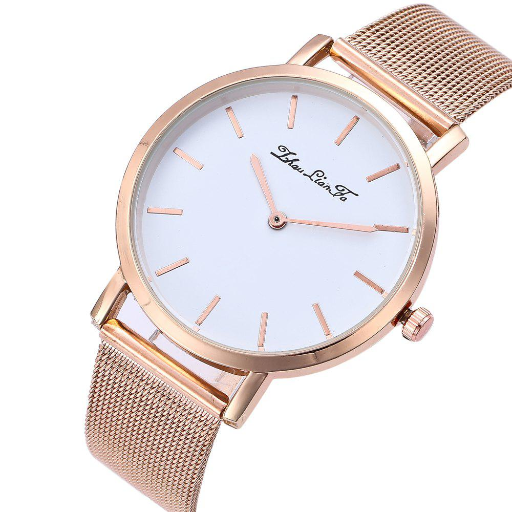 Stylish New Personality Fashion Quartz Watch Men and Women Nets Simple Style Neutral Watch with Gift Box - ROSE GOLD
