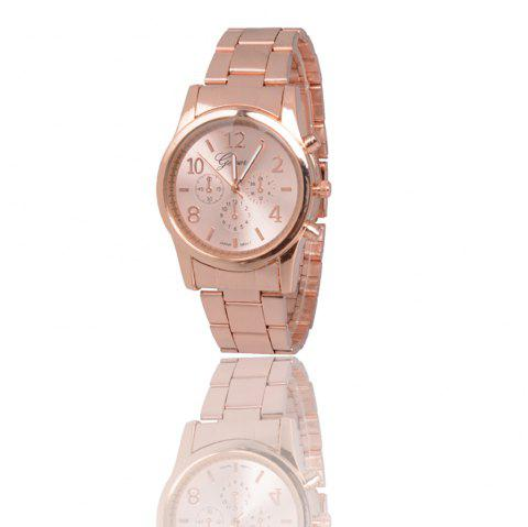 New Popular Fashion Personality Quartz Watch Men and Women Business Style Strap Neutral Watch with Gift Box - ROSE GOLD