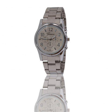 New Popular Fashion Personality Quartz Watch Men and Women Business Style Strap Neutral Watch with Gift Box - GUN METAL