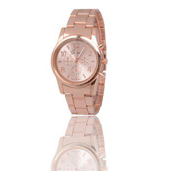 New Popular Fashion Personality Quartz Watch Men and Women Business Style Strap Neutral Watch with Gift Box - ROSE GOLD ROSE GOLD