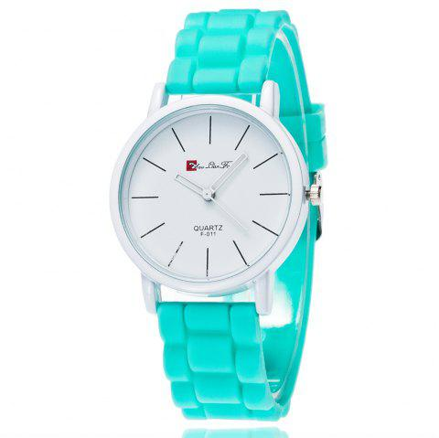 New Fashion Quartz Watch Men and Women Pop Style Silicone Strap Neutral Watch with Gift Box - GREEN