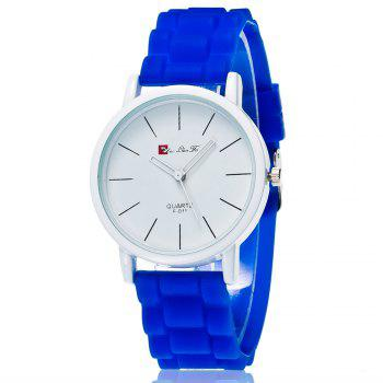 New Fashion Quartz Watch Men and Women Pop Style Silicone Strap Neutral Watch with Gift Box - BLUE BLUE