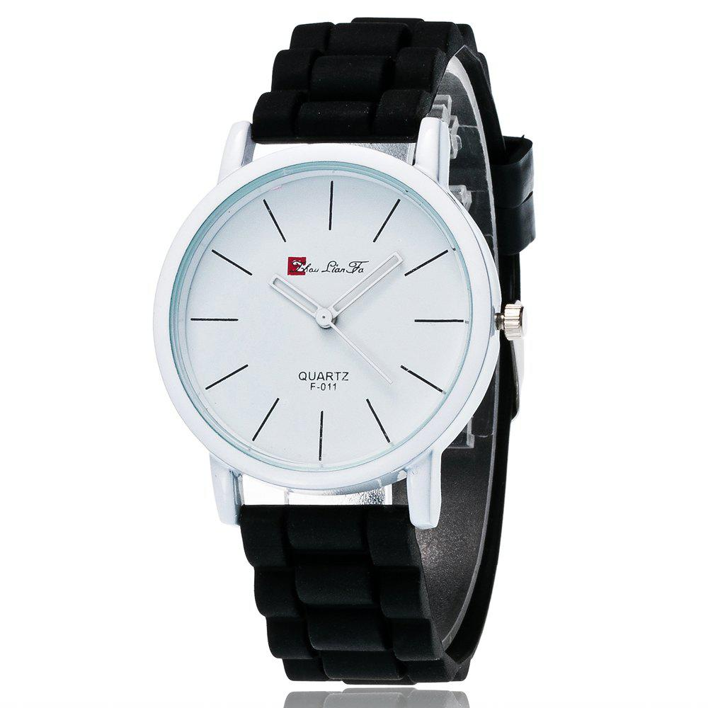 New Fashion Quartz Watch Men and Women Pop Style Silicone Strap Neutral Watch with Gift Box - BLACK