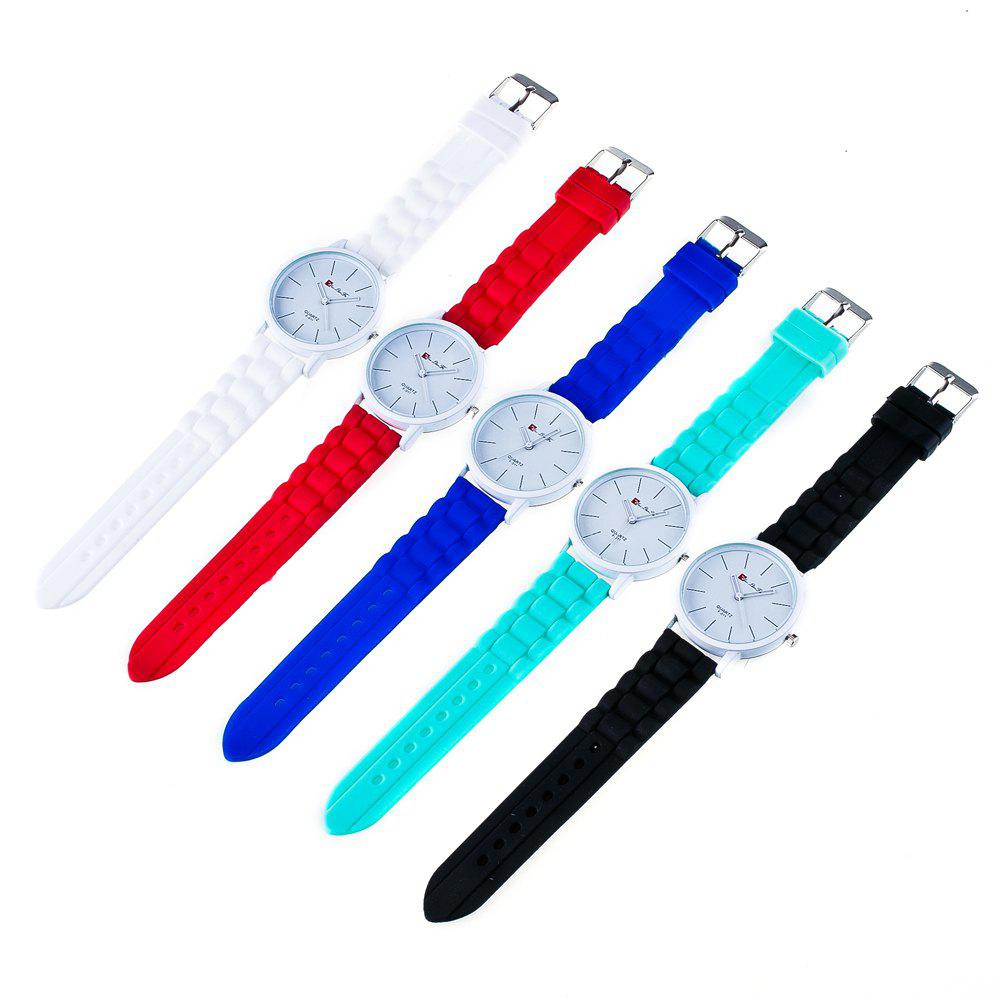 New Fashion Quartz Watch Men and Women Pop Style Silicone Strap Neutral Watch with Gift Box - BLUE