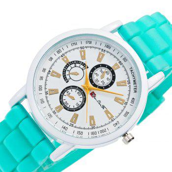 New Popular Quartz Watch Fashion Minimalist Style Silicone Strap Classic Watch with Gift Box - GREEN