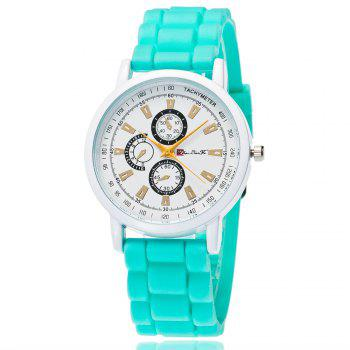 New Popular Quartz Watch Fashion Minimalist Style Silicone Strap Classic Watch with Gift Box - GREEN GREEN
