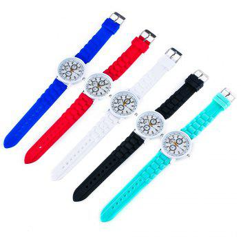New Popular Quartz Watch Fashion Minimalist Style Silicone Strap Classic Watch with Gift Box -  BLUE