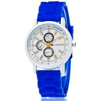 New Popular Quartz Watch Fashion Minimalist Style Silicone Strap Classic Watch with Gift Box - BLUE BLUE