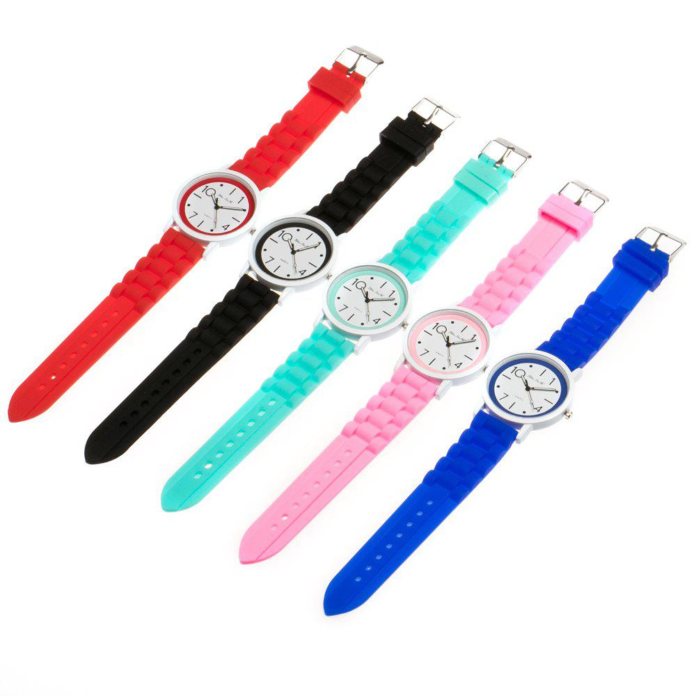 New Popular Watch Cute Minimalist Style Silicone Strap Temperament Classic Watch with Gift Box - GREEN