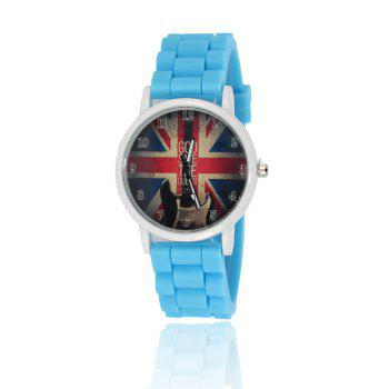 New Simple Fashion Watch Literary Style Watch British Rice Word Shading Silicone Strap with Gift Box - LIGHT BLUE LIGHT BLUE