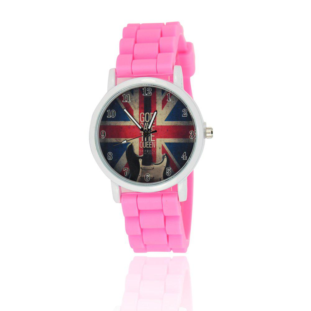 New Simple Fashion Watch Literary Style Watch British Rice Word Shading Silicone Strap with Gift Box - SANGRIA