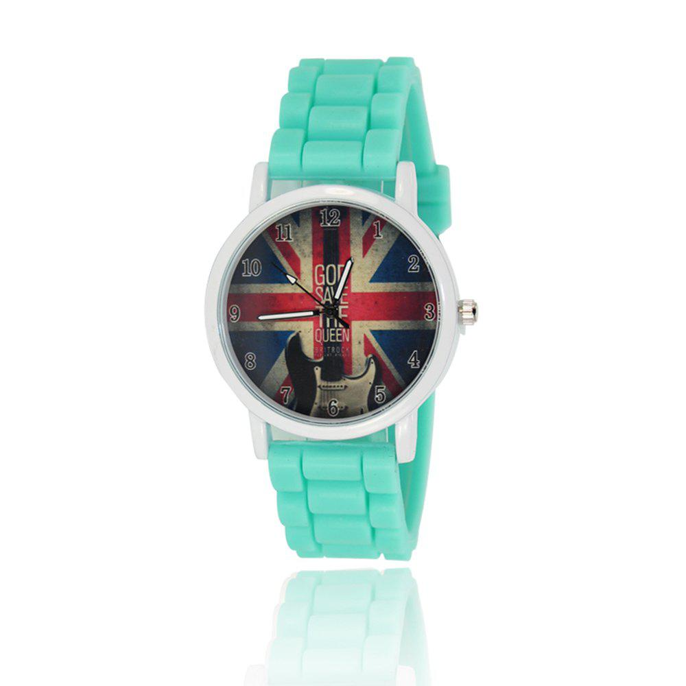 New Simple Fashion Watch Literary Style Watch British Rice Word Shading Silicone Strap with Gift Box - MINT