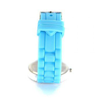 New Fashion Women'S Watch Small Fresh Style Silicone Strap Cute Digital Shades Watch with Gift Box - LIGHT BLUE