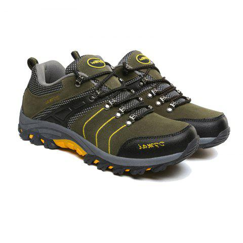 2017 Autumn and Winter New Men'S Hiking Shoes Low To Help Waterproof Hiking Shoes Fashion Sports Outdoor Shoes - ARMYGREEN 44