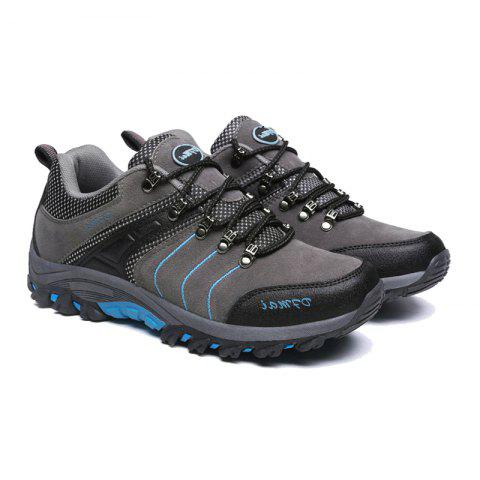 2017 Autumn and Winter New Men'S Hiking Shoes Low To Help Waterproof Hiking Shoes Fashion Sports Outdoor Shoes - GRAY 39