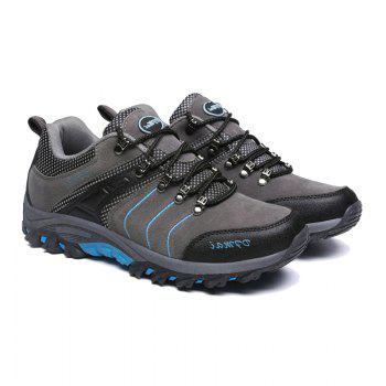2017 Autumn and Winter New Men'S Hiking Shoes Low To Help Waterproof Hiking Shoes Fashion Sports Outdoor Shoes - GRAY GRAY