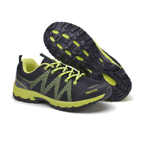 Summer New Casual Outdoor Shoes Men Wear Non-Slip Shoes Breathable Mesh Youth Wild Students Running Shoes - DARKGREEN 44