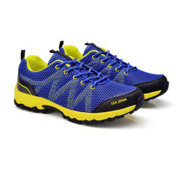 Summer New Casual Outdoor Shoes Men Wear Non-Slip Shoes Breathable Mesh Youth Wild Students Running Shoes - DARKBLUE DARKBLUE
