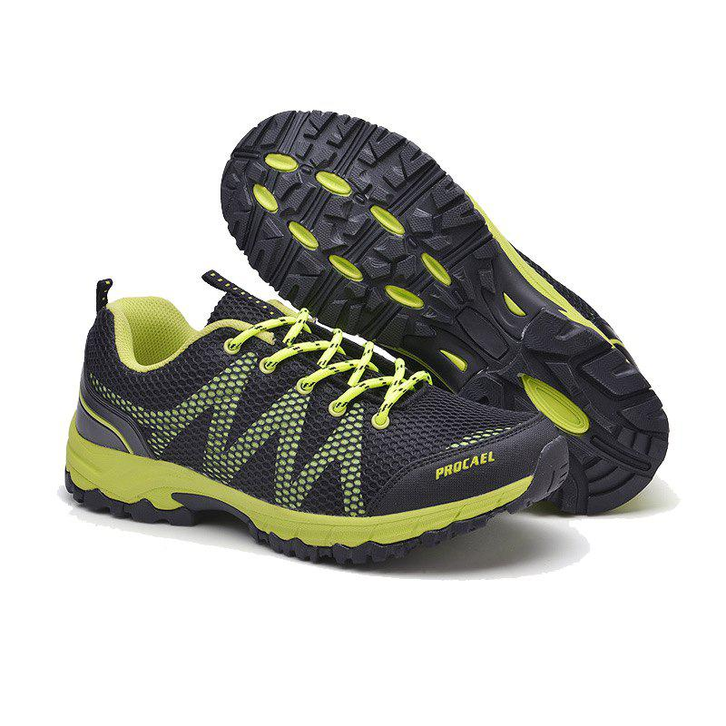 Summer New Casual Outdoor Shoes Men Wear Non-Slip Shoes Breathable Mesh Youth Wild Students Running Shoes - DARKGREEN 40