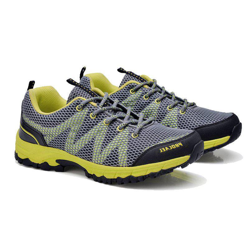 Summer New Casual Outdoor Shoes Men Wear Non-Slip Shoes Breathable Mesh Youth Wild Students Running Shoes - DARKGRAY 43