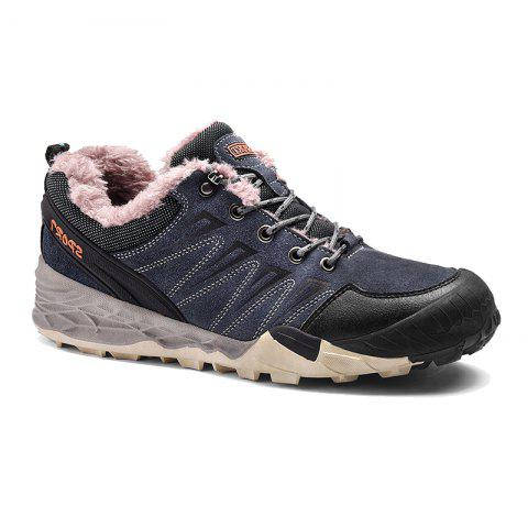 2017 Winter New Large Size Outdoor Shoes Men'Non-Slip Hiking Shoes - BLUES 46