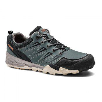 2017 Winter New Large Size Outdoor Shoes Men'Non-Slip Hiking Shoes - STONE BLUE STONE BLUE
