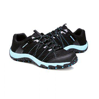 Autumn Outdoor Air Snow Mountain Hiking Shoes Cloth Shoes Water Speed Interference - BLACK AND BLUE BLACK/BLUE