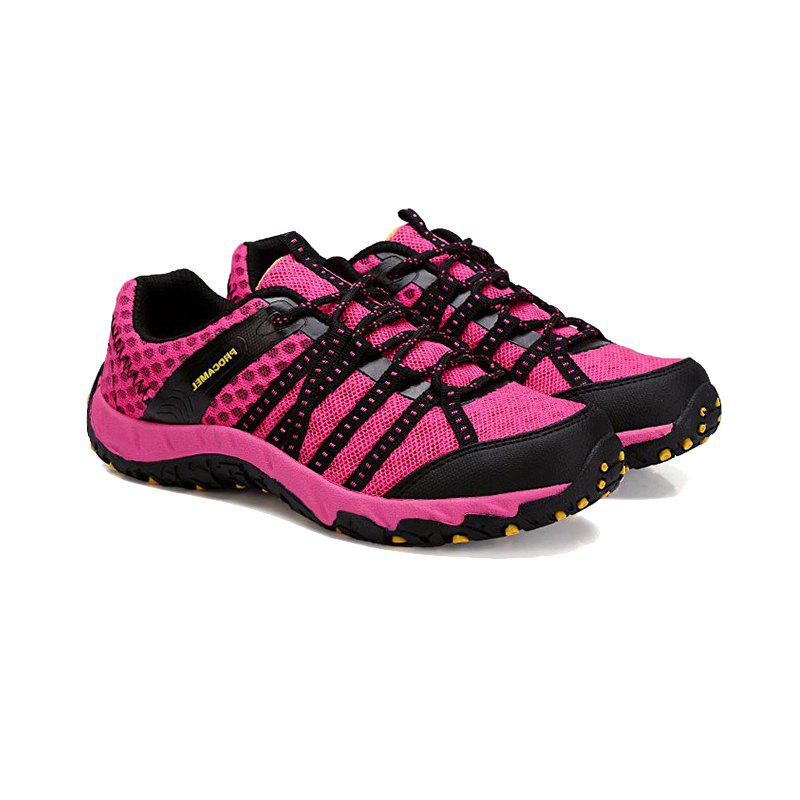 Autumn Outdoor Air Snow Mountain Hiking Shoes Cloth Shoes Water Speed Interference - ROSE RED 37