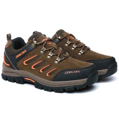 2017 New Autumn Hiking Shoes Male Anti-Skid Wear Men and Women Hiking Shoes Men'S Outdoor Sports Shoes - KHAKI 43