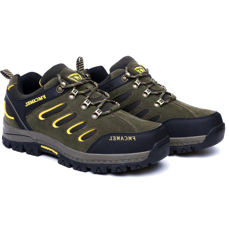 2017 New Autumn Hiking Shoes Male Anti-Skid Wear Men and Women Hiking Shoes Men'S Outdoor Sports Shoes - ARMYGREEN 42