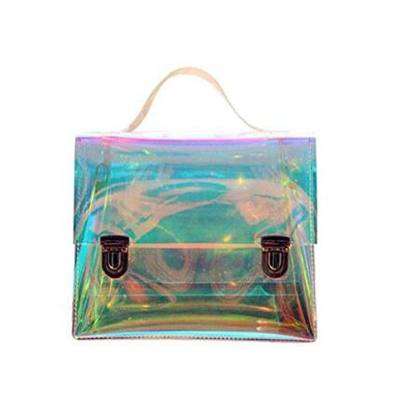 Women's Transparent Messenger Shoulder Bag Crossbody Bag Clear Handbag Tote - CLEAR
