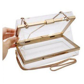 Luxury Acrylic Fashionable Transparent Evening Clutches Shoulder Bags Handbag for Women Ladies Gift Ideal - TRANSPARENT