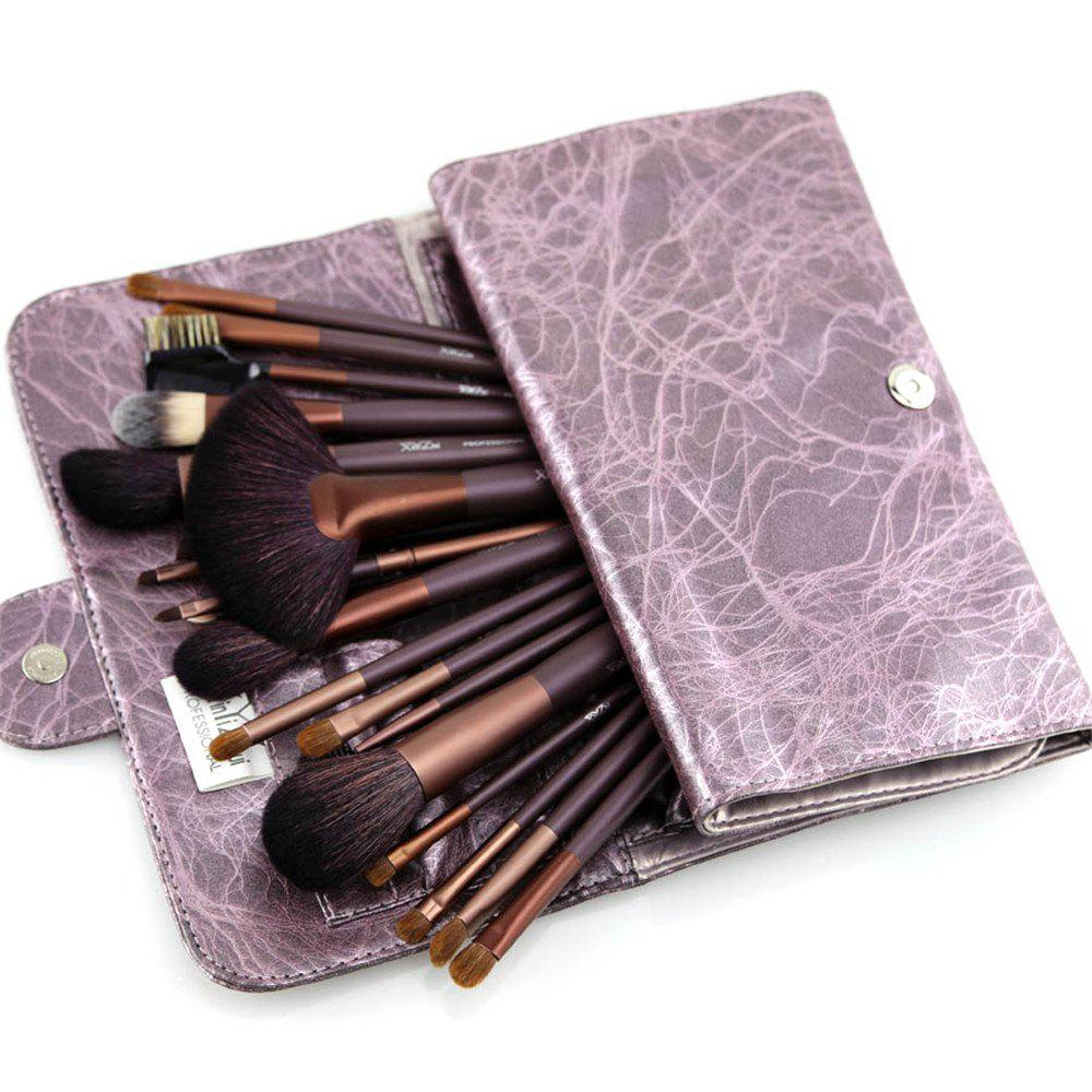 XinYiZhui 21PCS Professional Animal Hair Makeup Brush Set - PURPLE