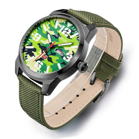 MINIFOCUSI MF0032G 1127 Fashion Trend Band Calendar Nylon Band Men Quartz Watch - GREEN