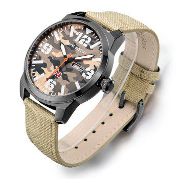 MINIFOCUSI MF0032G 1127 Fashion Trend Band Calendar Nylon Band Men Quartz Watch - BROWN