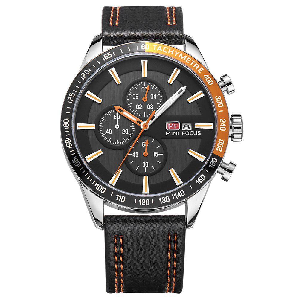 MINIFOCUSI MF0030G 1128 Business Casual Band Calender Belt Man Quartz Watch - ORANGE