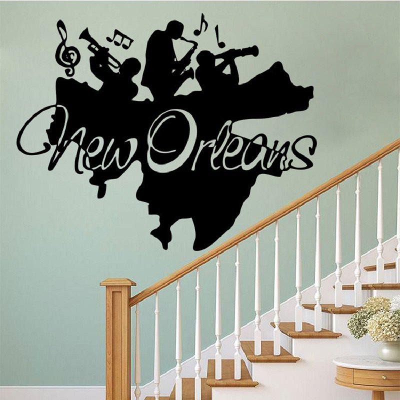 New orleans jazz wall art mural decor jazz band wall applique poster home decal decoration wall
