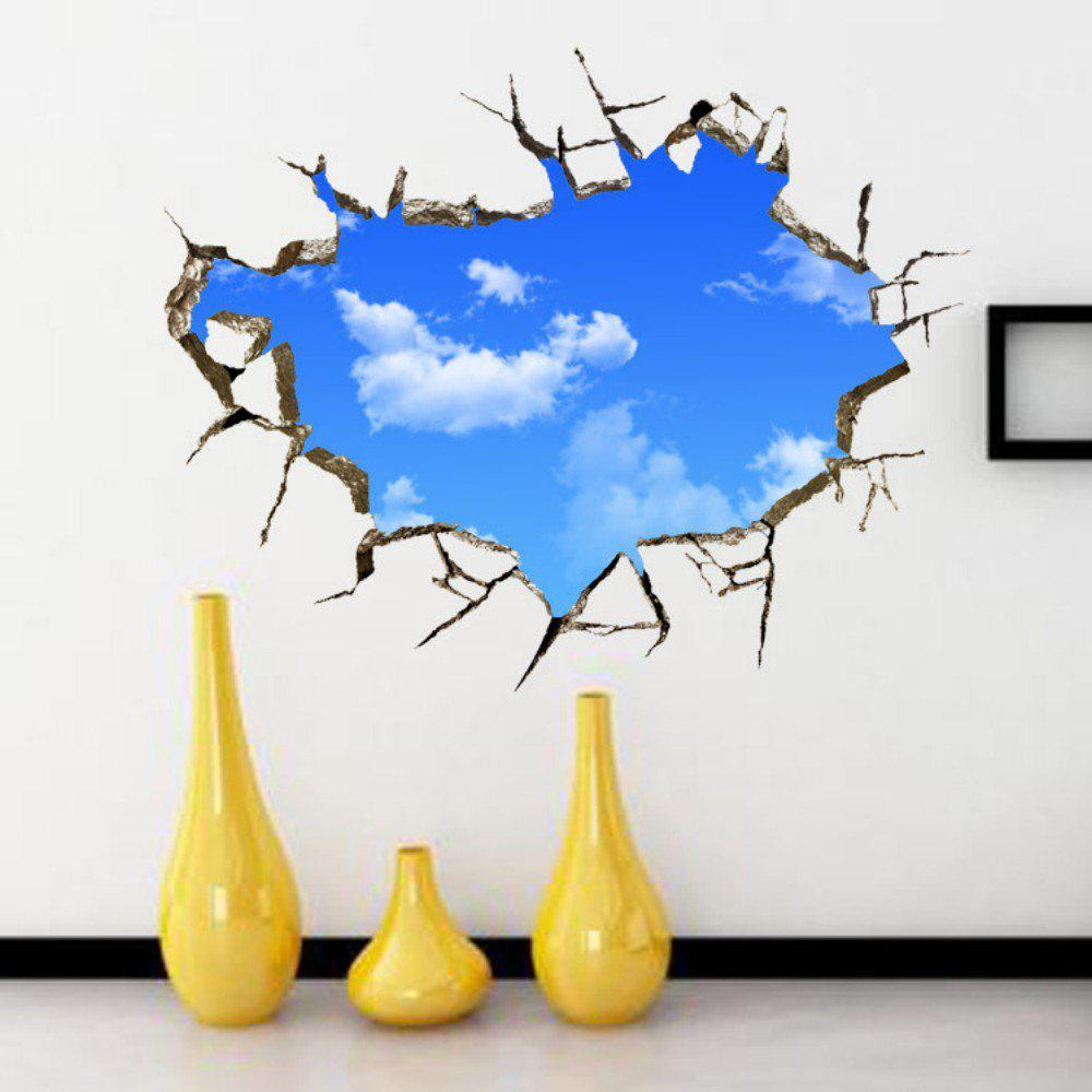 3D Blue Sky White Cloud Wall Sticker Home Decoration stylish blue sky and white cloud pattern removeable 3d wall sticker home decoration