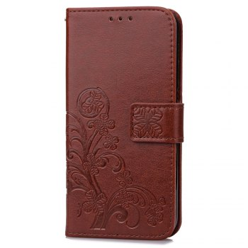 Lucky Clover Card Lanyard Pu Leather Cover for Meizu Note6 -  BROWN