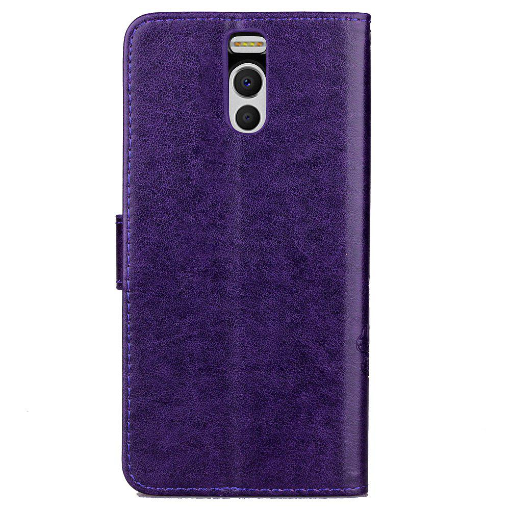 Lucky Clover Card Lanyard Pu Leather Cover for Meizu Note6 - PURPLE