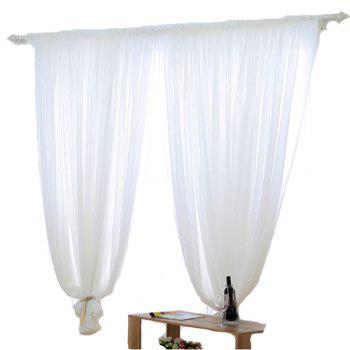 Grommet Semi-Sheer Curtains - Beautiful  Elegant  Natural Light Flow  and Durable Material White 6-32 - WHITE WHITE
