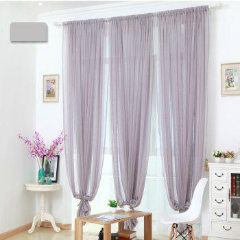 Grommet Semi-Sheer Curtains - Beautiful  Elegant  Natural Light Flow  and Durable Material White 6-32 - GRAY GRAY