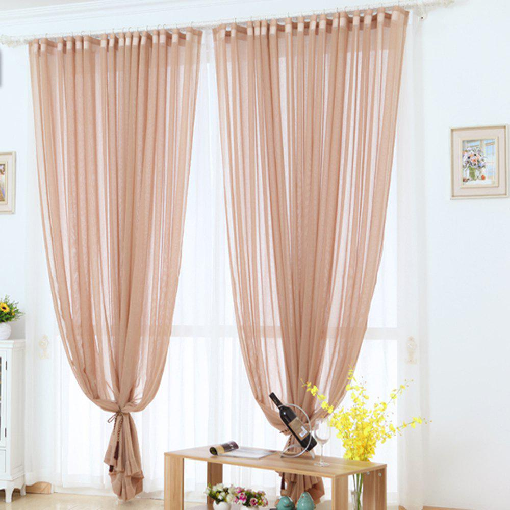 Grommet Semi-Sheer Curtains - Beautiful  Elegant  Natural Light Flow  and Durable Material White 6-32 - MOCHA 1.4MX2.6M