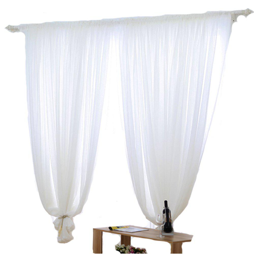 Grommet Semi-Sheer Curtains - Beautiful  Elegant  Natural Light Flow  and Durable Material White 6-32 - WHITE 1.4MX2.6M