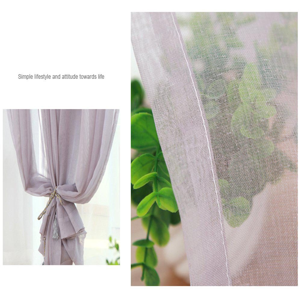 Grommet Semi-Sheer Curtains - Beautiful  Elegant  Natural Light Flow  and Durable Material White 6-32 - GRAY 1.4MX2.6M