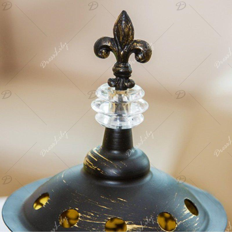 Christmas Wrought Iron Glass Candlestick - BRONZED